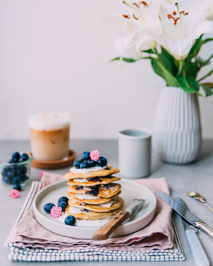 "Lemon Blueberry ""Buttermilk"" Pancakes"
