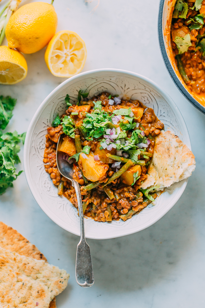 Lentil Potato Green Bean Curry